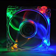 1 Pcs LED Lights PC Cooling Fan Unit 8cm Computer Clear Transparent Case 8025 Chassis Fan 80 * 80 * 25 #1833