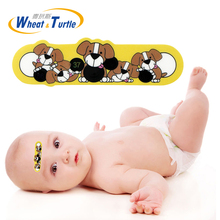 4Pcs/Lot Baby Forehead Sticker Temperature Doggy Pattern Body Fever Thermometers Lcd Digital ABS Medical Thermometers Children