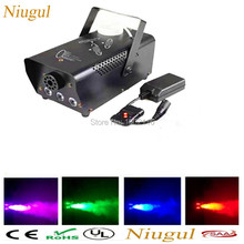 Remote or wire control LED 400W smoke machine/RGB change color fog machine/professional smoke ejector/stage equipment/LED fogger
