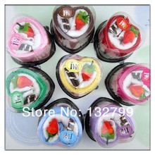 Boutique Heart Strawberry Cake Face Hand Wash Towel Wedding Party Favor Gift