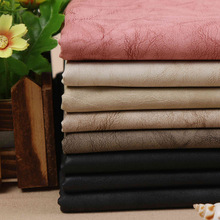 2017 1 Yard PU Clothing Leather DIY Clothing Artificial Free Washable Elastic Embossed Series Leather Pants(China)