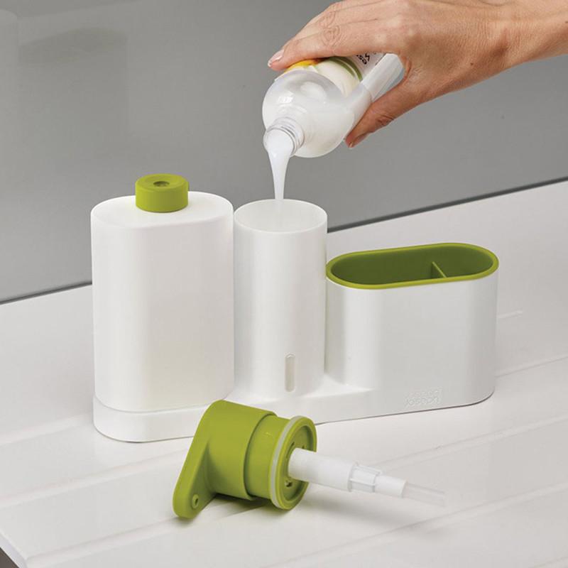 ASFULL Multifunctional Washing Sponge Storage Sink Detergent Soap Dispenser Storage Rack Hand Sanitizer for Bottle Kitchen use 11