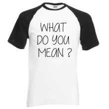 Adult Justin Bieber What Do You Mean letters hip hop men t shirt 2017 new summer 100% cotton raglan t-shirt o-neck top tees(China)