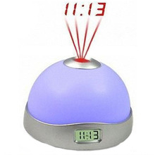 New Colorful Projection Clock laser with Time Projector Color LED clock projection alarm clock/led Night light 10PCS/LOT