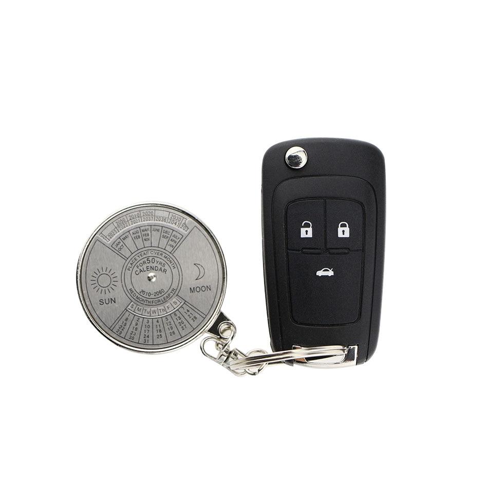Color My Life Car Calendar Key Chain Keychain Ring Case For Pro Design Brico Rak Tv Sanremo Dark Black Nissan Qashqai X Trail Mazda 3 6 5 2 Renault Mitsubishi Lada Us418