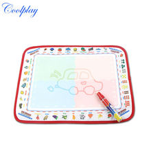 Coolplay CP1379 39X29cm New arrives 4colors Baby Water Doodle Mat with 1 Magic Pen Drawing Toys Mat /Aquadoodle  Mat/
