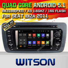 WITSON Android 5.1 SEAT IBIZA 2013 CAR DVD GPS Capacitive touch screen Cortex A9 Qual-core1.6G 16GB Rom CARA AUDIO DVD+GIFT
