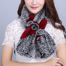 Scarf Women's Scarves Real fur Scarf Real Rex Rabbit Scarf All the goods in our shop are genuine leather(China)