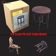 *HOT FIGURE TOY 1/6 woodenface Solid wood pr-026 Mini Coffee Table Model(China)