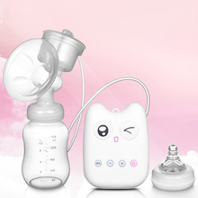 Advance sale! 99 PCS New 2017 baby Product Gleeful kitty Single USB Electric Breast Pump with 150ML bottle cheap price for you