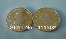 High quality wholesale 1oz Gold clad  .999 Australian Australian Kangaroo Souvenir coins ,Gold Bullion Coins 25pcs/lot