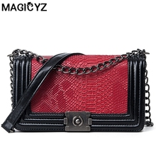 2017 Fashion Serpentine Woman Shoulder Bags Luxury leather Handbags Famous Brand Women Bags Designer Mujer Bolsas Messenger Bags(China)