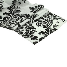 10pcs/ Pack Black And White Flocking Table Runner,Damask Table Runner,30x275cm Wedding,Hotel,Party And Banquet Tables Decoration(China)