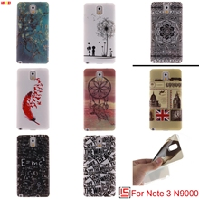 LELOZI Pretty Ultra Thin TPU Silicone Soft Phone Cell Mobile Case carcasa Cover For Samsung Galaxy Note 3 N 9000 Dreamcatcher