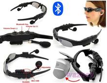 20set/lot * Sports Stereo Wireless Bluetooth 4.0 Headset Telephone Polarized Driving Sunglasses mp3 Riding Eyes Glasses