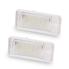 2PCS 18 LED 6000K License Number Plate Light Lamp12V For Audi A3 S3 A4 S4 B6 B7 A6 S6 A8 Q7 NO Canbus Error(China)