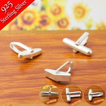 3X 925 Sterling Silver DIY Cuff links Jewelry,Top Quality Cufflink Jewelry Findings for DIY