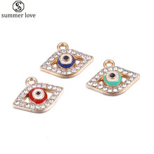Buy Wholesale 40Pcs Blue Evil Crystal Eye Charms Enamel Rhinestone Charm Pendant Jewelry Making Handmade DIY Finding Accessory for $7.74 in AliExpress store