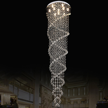 Chandelier LED Modern Living Room Lamps Crystal Chandeliers Led Lamp  Stairway Lighting Clear Crystal Spiral Chandeliers