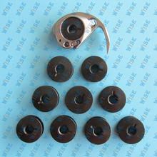 SHUTTLE HOOK #6028 & 10 pcs bobbins #2073 for SINGER 17/18 ADLER 48 /CONSEW/SEIKO(China)