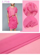 Good quality Candy-colored silk georgette,Scarf Dress material,sewing silk fabric,110cm*50cm/pcs(China)