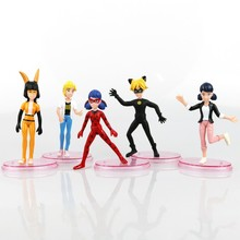 5PCS/lot Newest Miraculous Ladybug Cat Noir Toy Action Figures Statue Toys Children's Gift New in OPP Bag (Chinese Version)(China)
