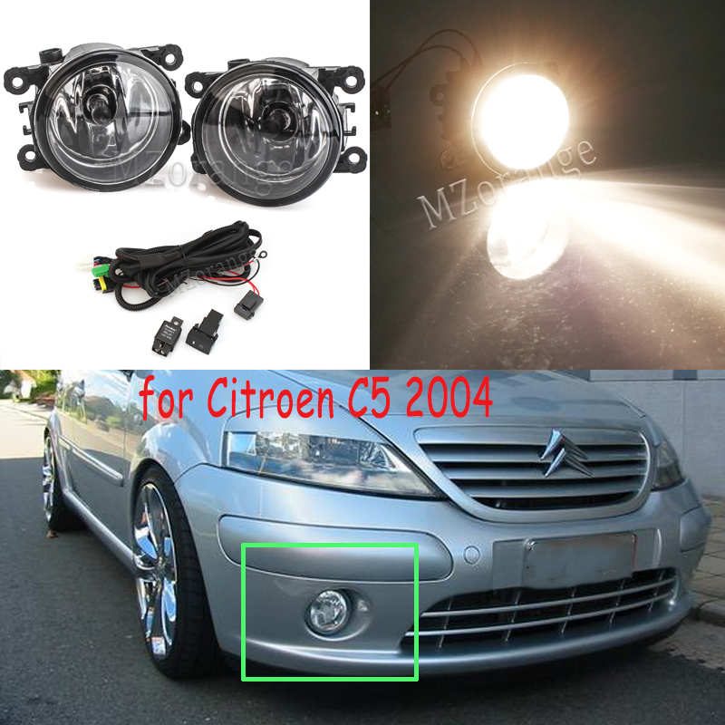 Projector Cob LED Fog DRL Spot Lights Angel Eyes Pair Fits Citroen C4