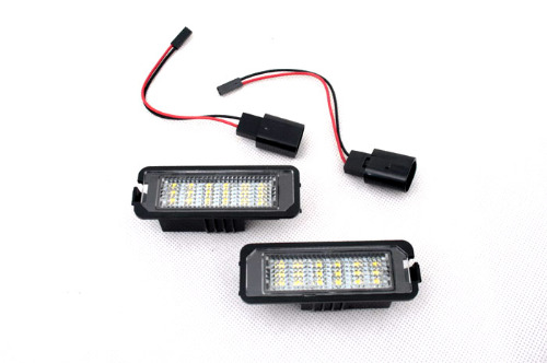 LED License Plate Lights (W/O CANBUS Load Resistors) For VW Volkswagen Polo 9N / 6R<br>