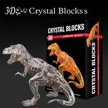 Dinosaur 3D Puzzles For Children Adult Puzzle DIY Kids Puzzles 3D Crystal Puzzle Jigsaw Assembly Model(China)