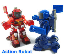 Free Shipping 2016 Unique Kid Fighting Robot Boxing RC Kumite Robot Battle Robot Remote Control Toys For Children Gift FSWB
