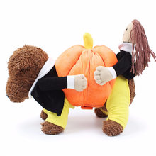 Fashion Funny Halloween Pumpkin Pet Dog Cat Clothes Carrying Costume Fancy Puppy Apparel Jacket Coat Fleece Pet Supply