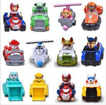 12pcs /set Canine Patrol Dog Toys Russian Anime Doll Action Figures Car Patrol Puppy Toy Patrulla Canina Juguetes Gift for Child