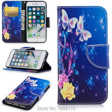 Buy Flower Butterfly Wallet Leather Pouch Case Iphone 8 8th 7 Plus 6 6S 5 5S SE MOTO G5 Plus G6 Money Pocket Stand Cover 100pcs for $254.00 in AliExpress store
