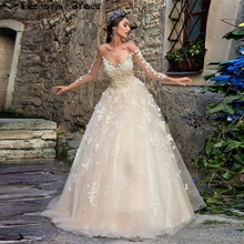 vestido de noiva Beautiful Wedding Dress Turkey With Sleeves Off The Shoulder 3D Flowers Pearls Princess Bridal Gowns Plus Size