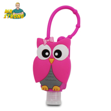 4pcs/lot Antibacterial Portable Hand Sanitizer Holder Cartoon Owl Silicone Bath Body Works With Empty Bottle 4Items