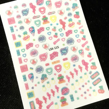 Newest LSK-115 neon summer bird shell 3d nail art sticker template nail neon decal supplier accessories(China)