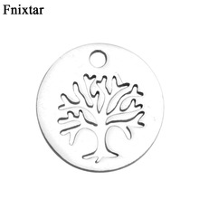 Buy Fnixtar Never Fade Stainless Steel Pendant Charms Women Bracelet Jewelry Making High Life Tree Mini Charms 20pcs/lot for $4.98 in AliExpress store