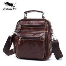 CROSS OX 2017 Summer New Arrival Genuine Leather Men's Messenger Bag Shoulder Bags For Men Cross Body Bags iPad Holder SL397M(China)