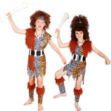 Unique Design Savage Costume Primitive Clothing For Children Cosplay Props Halloween Carnival Fancy Dress Supplies(China)