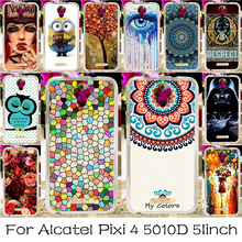 Soft TPU Silicone Phone Case For Alcatel OneTouch Pixi 4 5.0 inch OT-5010 5010D 3G Version Covers Anti-knock Shell Housing