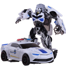 New Plastic+ Alloy Metal Transformation 4 Toys Anime White Robot Car Dragon Model Brinquedos Action Figures Toys Boys kids Gift(China)