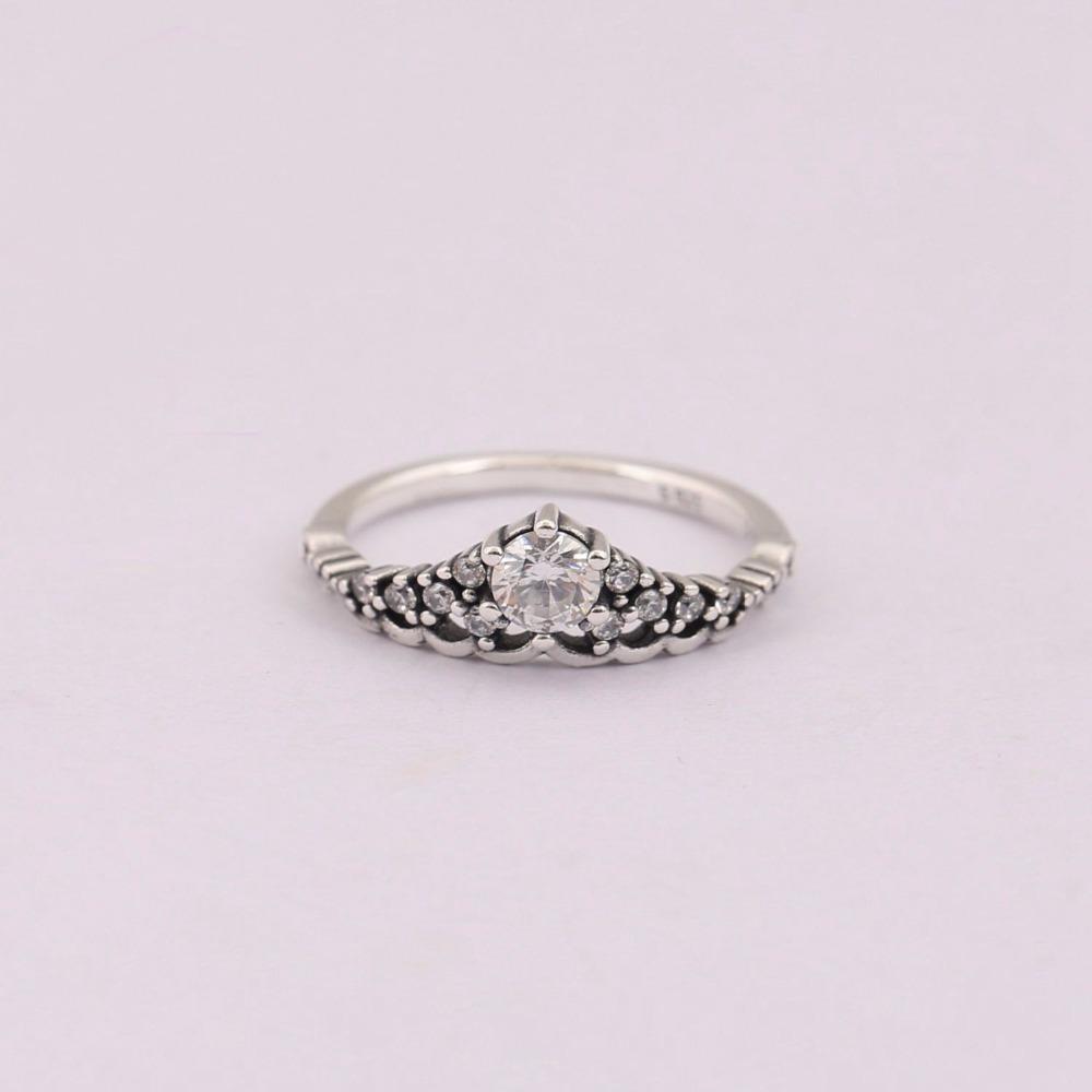 Genuine 925 Sterling Silver Fairytale Tiara Ring
