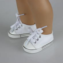 "Fashon White Shoes For 18 "" American Girl Doll 45cm Doll Accessories"