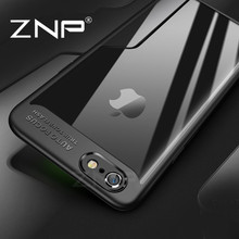 ZNP Luxury Case For iPhone 6 6s Plus Ultra Thin Slim PC & TPU Silicone Phone Cover For iPhone 6 6Plus 6sPlus 6s Case Coque(China)