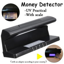 4W UV Light Money Bill Detector Lamp Dollar Fake Checkers Practical Counterfeit Currency Tester Portable With Scale(China)