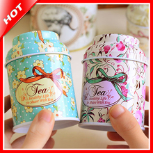 Mini Round Tea Caddy Tin Metal Box Candy Teabag Coffee Storage Can Kitchen Iron Gift Ng Decorative Canister Craft