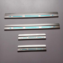 for Nissan NP300 Navara (D23) Frontier Navara D40 Door Sill Strip Welcome Pedal Trim Car Styling Stickers Automobile Accessories
