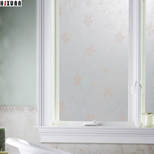 waterproof decorative window film 60x100cm frosted flower kitchen Interior self adhesive window stickers Hsxuan brand 6801