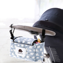Hanging Bag For Baby Stroller Accessory Nylon Bottle Diaper Organizer For Baby Carriage Large Capacity Storage Bag For Prams(China)