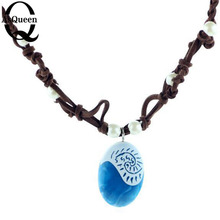 Buy 2017 Moana Ocean Rope Chain Necklaces Blue Stone Necklaces & Pendants Leather Suede Choker Necklace women Girls jewelry for $1.17 in AliExpress store